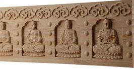 Tabla madera natural tallada 7 budas