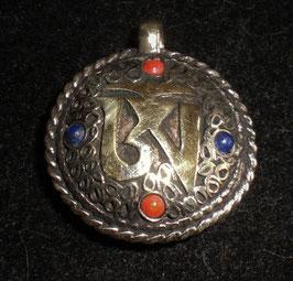 Colgante medallón doble, Om-Kalachakra, mod. 4