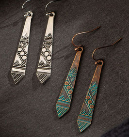 Pendientes tallados  tribal, mod. 1