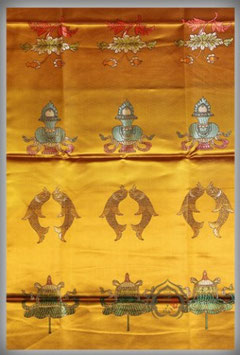 Khata budista en seda bordada