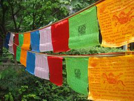 Banderas tibetanas de oración Seda