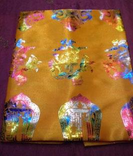 Khata budista tibetana ocho símbolos con brillo, grande