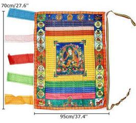 Bandera budista tibetana. Padmasambhava