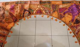 Cubrepuertas arco bordado espejos y patchwork extragrande