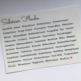 Schöner Floche - Postkarte