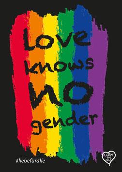 Love knows no gender Sticker schwarz