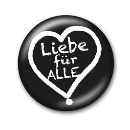 Liebe für Alle Button Schwarz/Weiß