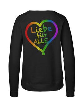 """Taillierter «Liebe für Alle» Sweater Regenbogen - """"Doppelt Beherzt"""""""