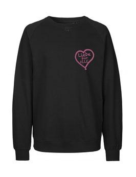 """«Liebe für Alle» Sweater pink """"Direkt auf's Herz"""""""
