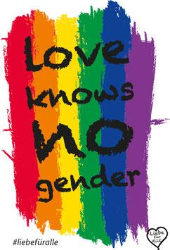 Love knows no gender Sticker weiß