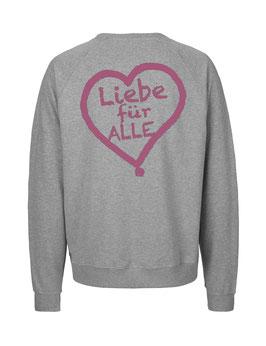 """«Liebe für Alle» Sweater pink - """"Doppelt Beherzt"""""""