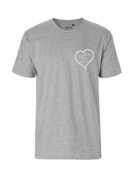 """«Liebe für Alle» Shirt weiß - """"Direkt auf´s Herz"""""""