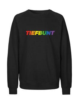 """«Tiefbunt» Sweater Regenbogen - """"Vorne Druff"""""""