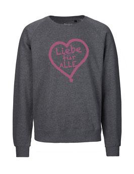 """«Liebe für Alle» Sweater pink - """"Vorne Druff"""""""
