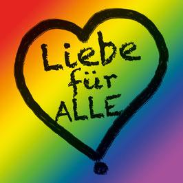 Liebe für Alle Sticker Regenbogen