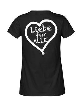 """Tailliertes «Liebe für Alle» Shirt weiß - """"Doppelt Beherzt"""""""