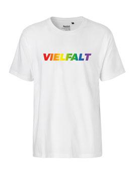 """«Vielfalt» Shirt Regenbogen - """"Vorne Druff"""""""