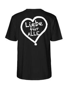 """«Liebe für Alle» Shirt weiß - """"Doppelt Beherzt"""""""