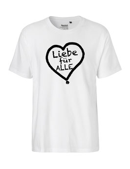 """«Liebe für Alle» Shirt schwarz - """"Vorne Druff"""""""