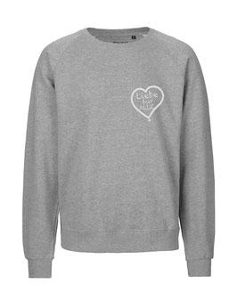 """«Liebe für Alle» Sweater weiß - """"Direkt auf's Herz"""""""