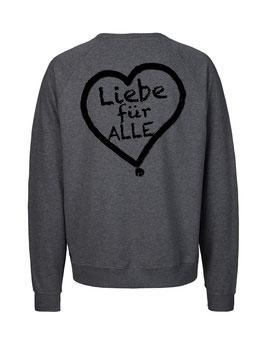 """«Liebe für Alle» Sweater schwarz - """"Doppelt Beherzt"""""""
