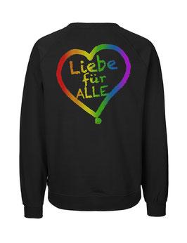 """«Liebe für Alle» Hoodie Regenbogen - """"Doppelt Beherzt"""""""