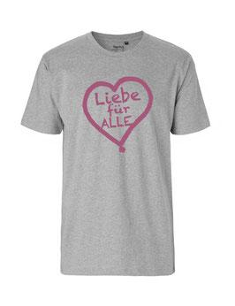 """«Liebe für Alle» Shirt pink - """"Vorne Druff"""""""
