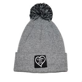 Bommelmütze «Liebe für Alle» heather grey