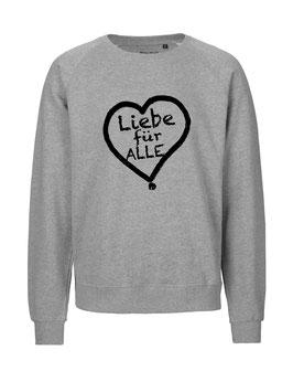 """«Liebe für Alle» Sweater schwarz - """"Vorne Druff"""""""