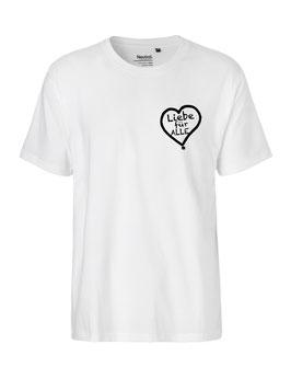 """«Liebe für Alle» Shirt schwarz - """"Direkt auf´s Herz"""""""