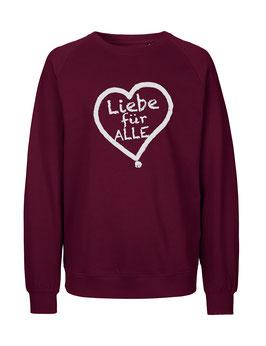 """«Liebe für Alle» Sweater weiß - """"Vorne Druff"""""""