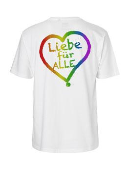 """«Liebe für Alle» Shirt Regenbogen - """"Doppelt Beherzt"""""""