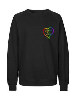 """«Liebe für Alle» Sweater Regenbogen - """"Direkt auf's Herz"""""""