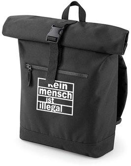 Rucksack «Kein Mensch ist illegal» schwarz