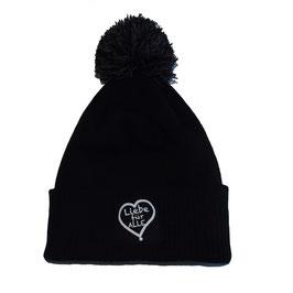 Bommelmütze «Liebe für Alle» black