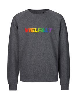 """«Vielfalt» Sweater Regenbogen - """"Vorne Druff"""""""