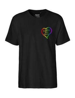 """«Liebe für Alle» Shirt Regenbogen - """"Direkt auf´s Herz"""""""