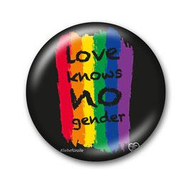 Love Knows No Gender Button Schwarz