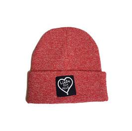 Beanie «Liebe für Alle» heather red