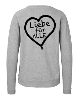 """Taillierter «Liebe für Alle» Sweater schwarz - """"Doppelt Beherzt"""""""