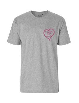 """«Liebe für Alle» Shirt pink """"Direkt auf´s Herz"""""""