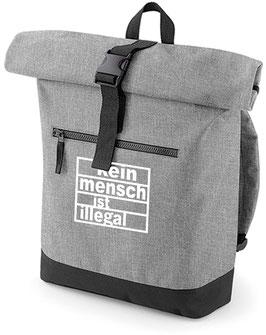 Rucksack «Kein Mensch ist illegal» grau