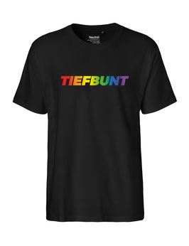 "«Tiefbunt» Shirt Regenbogen - ""Vorne Druff"""