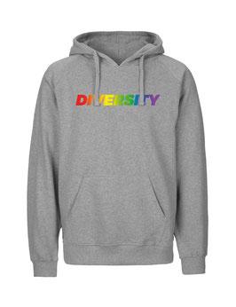 """«Diversity» Hoodie Regenbogen - """"Vorne Druff"""""""