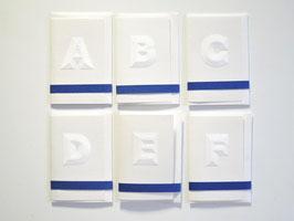 Weiße Buchstabenkarten A - Z