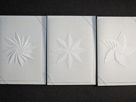 """Weiße Kunstkarten """"Sterne"""""""
