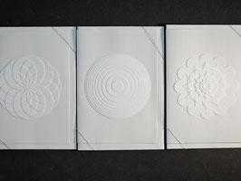 """Weiße Kunstkarten """"Rund"""""""