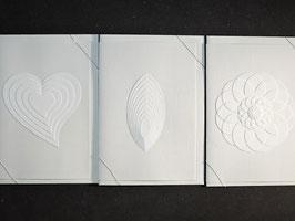 """Weiße Kunstkarten """"Mix"""""""