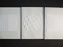 "Weiße Kunstkarten ""Im Quadrat"""
