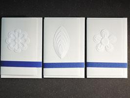 """Weiße Kunstkarten klein """"Natur"""""""
